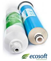 Комплект для осмоса: мембрана Filmtec 75 и постфильтр Ecosoft